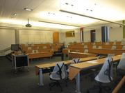 """The largest lecture room in McCord Hall fits just over 80 students. The design, says Dean Amy Hillman is to """"make it possible for students to discuss with one another."""""""