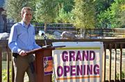 Rob Panepinto, president of the board of directors of the Central Florida Zoological Society Inc., talked about the value of the new Fairwinds Credit Union Indian rhinoceros exhibit.