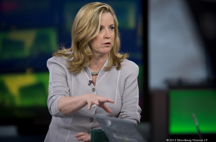 Kate O'Brian, president of Al Jazeera America Llc, speaks during a Bloomberg Television interview in New York, U.S., on Tuesday, Aug. 20, 2013. Al Jazeera, the Qatar-based TV network once labeled 'vicious' by former U.S. Defense Secretary Donald Rumsfeld, is seeking to appeal to an American audience willing to look beyond its reputation as the mouthpiece of terrorists and Islamist militants.
