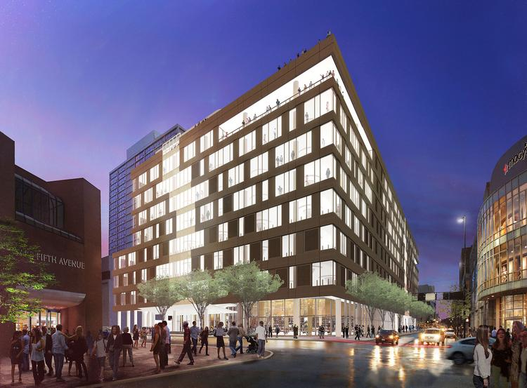 Dunnhumby USA's downtown headquarters will be a charcoal gray-colored concrete tower whose internal and external look is designed to reflect the consumer science company's data-driven but collaborative culture.