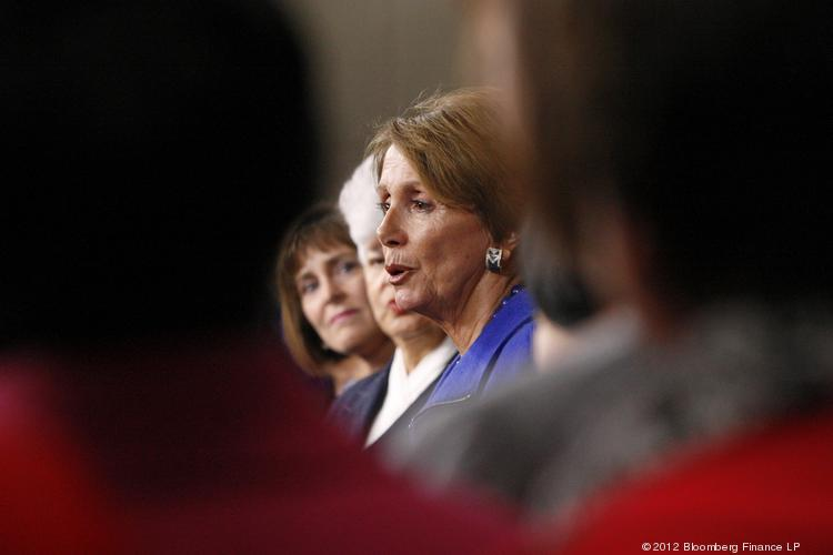 U.S. House Minority Leader Nancy Pelosi, a Democrat from California, spoke in Albuquerque Tuesday on women's economic advancement. In this file photo, Pelosi addresses a news conference at the U.S. Capitol in Washington, D.C.