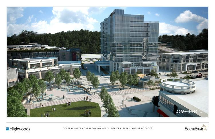 Highwoods Properties and SouthStar LLC's plans for Ovation, a mixed-use development in Cool Springs.