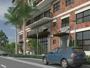 The entrance to the Flagler 626 condo in Fort Lauderdale.