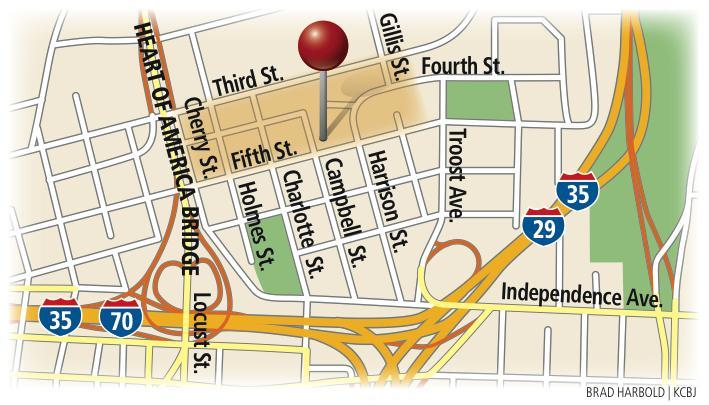 Map of the Columbus Park redevelopment project in Kansas City