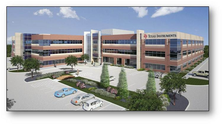 Texas Instruments' new campus in Sugar Land was designed by Powers Brown Architecture and is being built by E.E. Reed Construction.