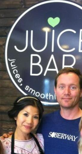 Vui and John Hunt opened Juice Bar in April.