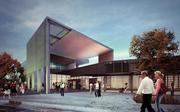A rendering of what the front entrance of the Tacoma Art Museum will look like once an expansion has taken place.