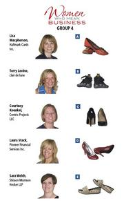 GROUP 4: Women Who Mean Business  Fill out the survey at https://www.surveymonkey.com/s/WWMB2013 to have an opportunity for your own shoe experience.