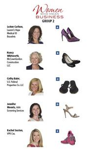 GROUP 2: Women Who Mean Business  Fill out the survey at https://www.surveymonkey.com/s/WWMB2013 to have an opportunity for your own shoe experience.
