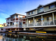 Floating houses at Docktown