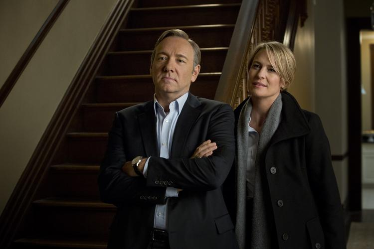 """Kevin Spacey and Robin Wright star in """"House of Cards"""" on Netflix. The show, currently in production for its second season, had to move a planned presidential motorcade scene from D.C. to Baltimore after permits were pulled."""