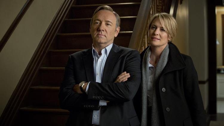"""That's according to Gov. Martin O'Malley, who took some time off over the weekend to issues a press release saying such. That means the Netflix political thriller """"House of Cards"""" will indeed shoot its third season, as it has the previous two, in Maryland. Kevin Spacey and Robin Wright, pictured here, star in """"House of Cards."""""""