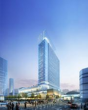 Marriott Marquis Convention Center  Houston's second convention center hotel, the Marriott Marquis, will break ground April 7 after securing funding for the $335 million, 30-story, 1,000-room project in downtown Houston.