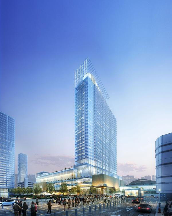 Work is underway on Houston's second convention center hotel, which will be next to the George R. Brown Convention Center.
