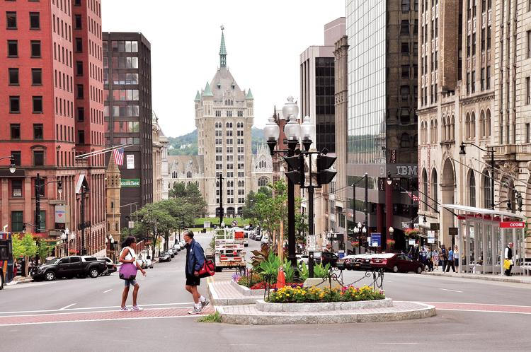 State Street in downtown Albany, NY
