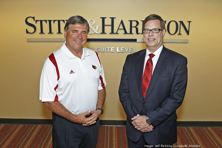 University of Louisville athletic director Tom Jurich, at left, is shown with Stites & Harbison chairman Ken Sagan.