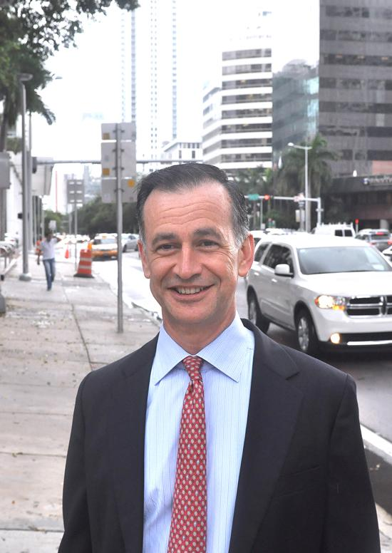 Adolfo Jimenez of Holland & Knight says some clients expect a Brickell address.