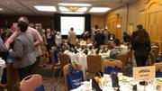 Three hundred attendees at OBJ's Business of Sports event had plenty of time to network before the panel discussion.