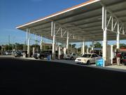 The food is always good, but fuel was the real draw on opening day at the Wawa in east Orlando, since the $3.19 per gallon price was well below the area average.