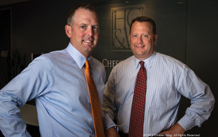 Skip Woody, left, and Todd Yates of Hill Chesson & Woody in Durham.