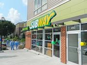 The new Subway is not far from the University of Louisville Hospital.