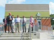 Several local officials, including Louisville Mayor Greg Fischer, were on hand for the ribbon-cutting.
