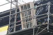 Looks like some of the window pieces are being installed into the London-side of Wizarding World of Harry Potter.
