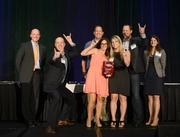 Magnet 360 accepting their award as a 2013 Best Places to Work small company category winner.