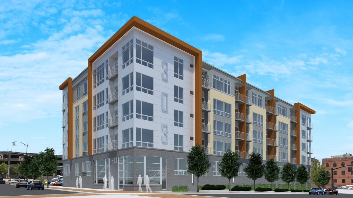 Apartment Building Front first look: new design approved for apartments at former downtown