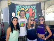 Best Buddies, a nonprofit based in Miami, helps match up developmentally disabled people with friends and employment opportunities. From left, Melissa Franco, Jeffrey LaFontaine, Melissa Harlan and Jennifer Allen.