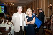 Robert James of Capstone, left, with Suzanne Blackwell of Hylant.