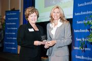 Mary Yarbrough accepts the award for Vanderbilt University as the 2013 winner for the 500+ employee category, with Kate Herman, publisher of the Nashville Business Journal.