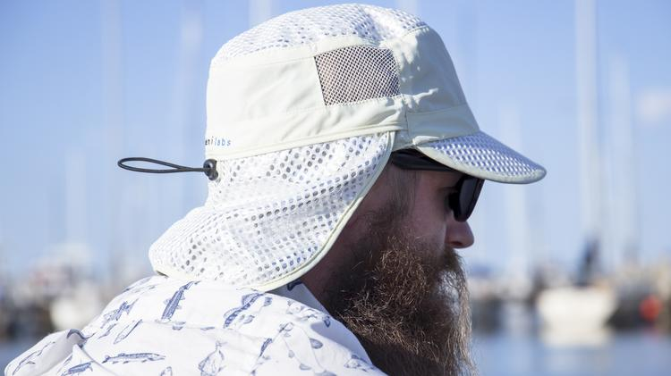 3d04f9525ce7a Alchemi Sun Hats reflect the sun s heat and claim to block 99.8 percent of  ultraviolet rays