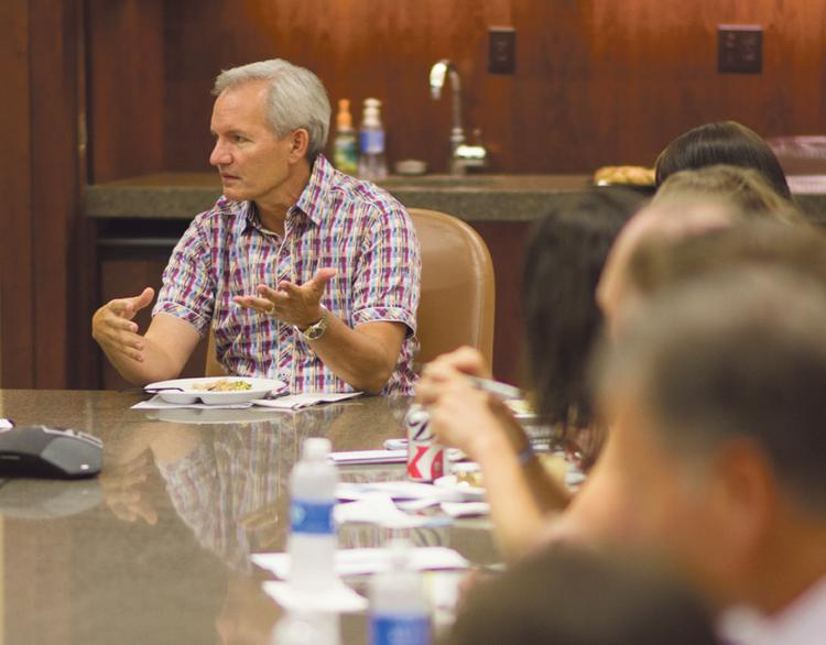 Greg Graves shares what he knows with aspiring business owners during an Access for Entrepreneurs lunch.