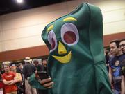Old school collides with new school as Gumby sends a text. The world has changed so fast.
