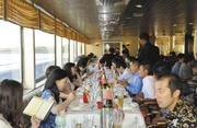 An incentive group recently spent time on the Star of Honolulu's sunset dinner cruise.