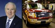 Jacob Stuart, president of Central Florida Partnership, drives a Ford Expedition.