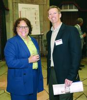 2013 Pittsburgh 100 event - Denise DeSimone of C-leveled and Bill Boehner of Newton Consulting.