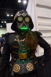 "Female Steampunk Darth Vader. Nothing else needs to be said. Except ""Awesome""."