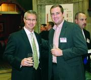 Irwin Car and Equipment's David Fitzpatrick, left, and Stoltenberg Consulting Inc.'s Mike Gielata.