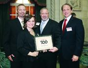 From left:  EHS Support LLC's Andy Patz , Bethany Evans, Kenny Oglivie and William Egan.