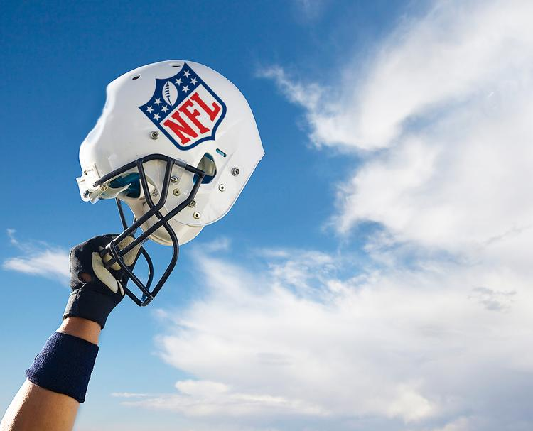 Photo Illustration for NFL head injury lawsuits