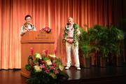 From left, Harris Chan, most recently vice president of operations for China for Starwood Hotels & Resorts, will succeed Keith Vieira as Starwood's vice president of operations in Hawaii and French Polynesia. Chan's appointment was announced during an event at The Royal Hawaiian Thursday evening.