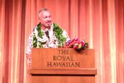 Keith Viera, Starwood Hotels & Resorts' senior vice president of operations for Hawaii and French Polynesia, joked that he didn't know if it was a good thing or a bad thing that his position is being filled by two people instead of one during an event at The Royal Hawaiian hotel in Waikiki.