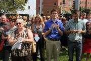 A crowd gathered on Thursday afternoon for the opening of U Square @ The Loop