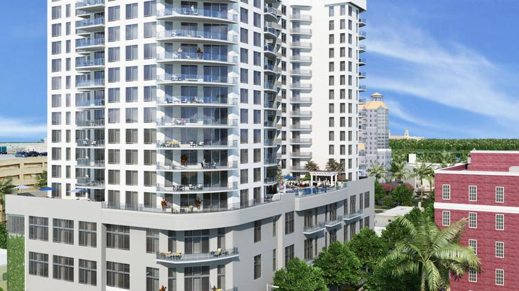The 205 Unit Alexander Apartment Building Is Under Construction In Downtown West Palm Beach