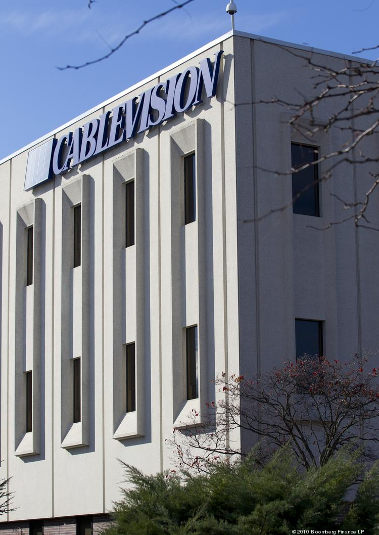 The Cablevision Systems Corp. headquarters sits in Bethpage, New York.