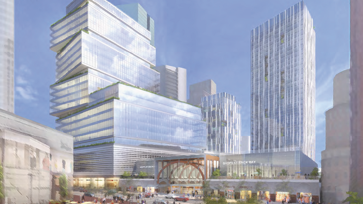 Boston Properties is again planning a massive air-rights development at a major transportation hub, this time with a 1.26 million-square-foot mixed-use project above Back Bay Station.