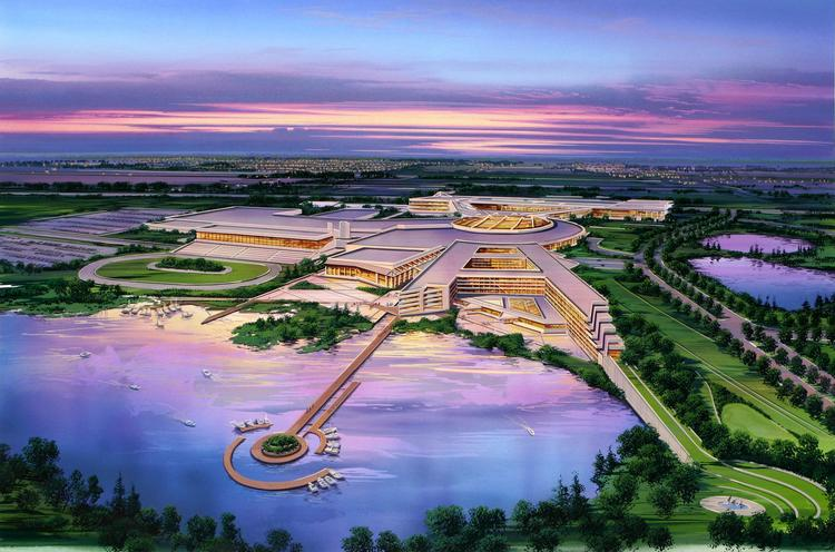 A rendering of the proposed Kenosha casino.