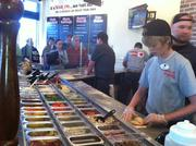 Customers can choose from more than 40 toppings at Your Pie.